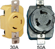 Receptacle, 30A/125V, Yellow