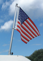 """36"""" SS Pole, 30"""" x 48"""" Recommended Flag Size"""