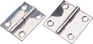 "Butt Hinge, Stainless, 1-1/2""L x 1-1/4""W"