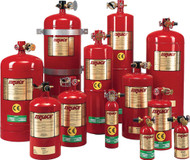 """Fire Extinguisher, 1000 Cu. Ft. Protection, 10"""" Dia., 21.6""""H"""