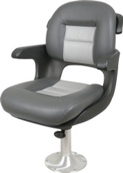 Elite Helm Seat Low Back, Charcoal/Gray