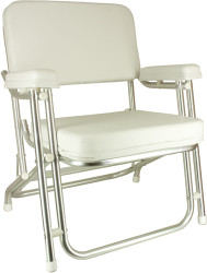 Classic Folding Deck Chair, Stainless Steel