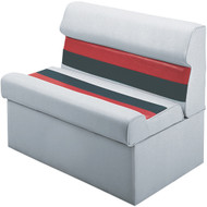 """36"""" Lounge Seat, Light Grey/Charcoal/Red"""
