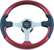 Leather Look Wheel, Red