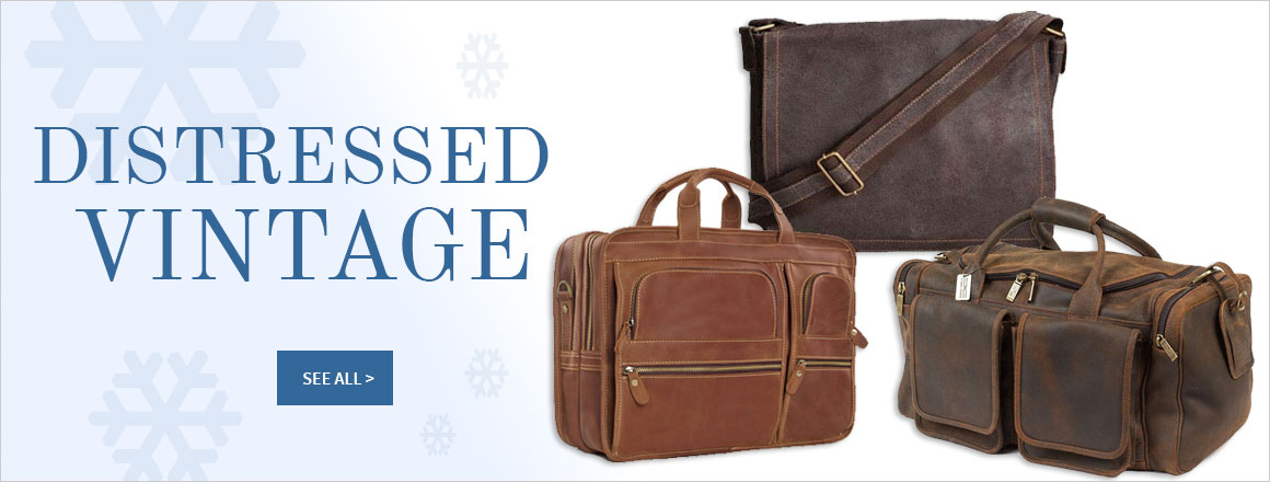 Briefcase.com Vintage Distressed Leather Bags Collection