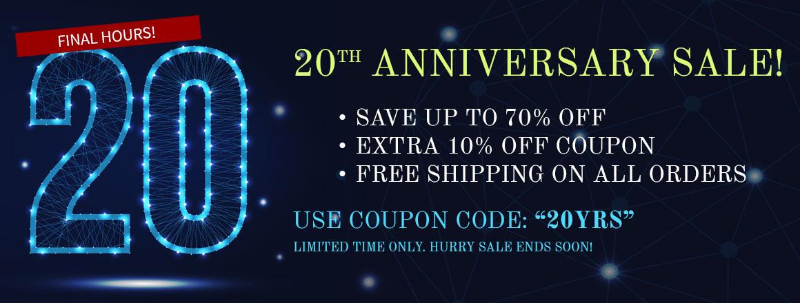 20TH Anniversary Sale!