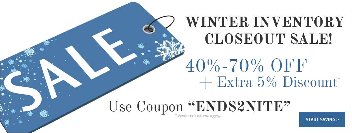 Winter Closeout Sale
