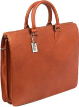 Claire Chase Sarita Briefcase Leather Laptop / Tablet Tote 147