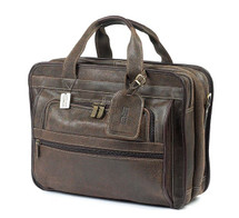 Claire Chase Guardian Computer Briefcase Distressed Brown