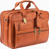 Claire Chase Jumbo Executive Computer Briefcase 154XL Saddle Tan