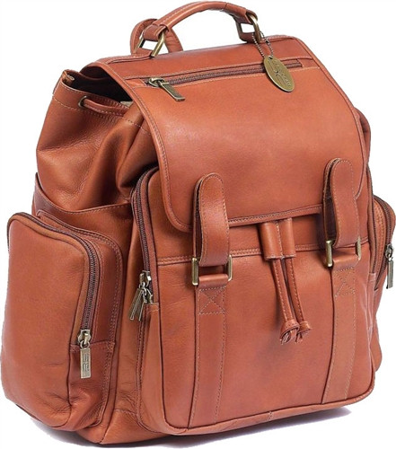 Claire Chase Jumbo Leather Backpack 329 Leather Laptop Backpack