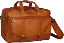 David King Expandable Laptop Briefcase Tan