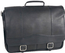 David King Classic Porthole Leather Briefcase