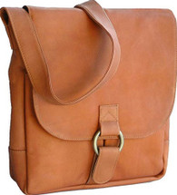 David King Vertical Leather Laptop/Tablet Messenger Bag 187