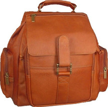 David King Top Handle Leather Backpack