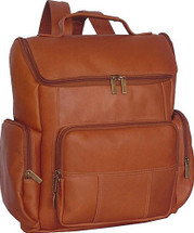 David King Multi Pocket Leather Backpack