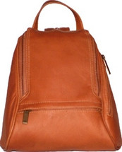 David King Rectangular Mid Size Leather Backpack 363