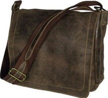 David King Distressed Leather Messenger Bag 6111