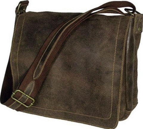 David King Distressed Vintage Leather Laptop Messenger Bag 6111 ...