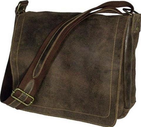 David King Distressed Vintage Leather Laptop Messenger Bag 6111 ...