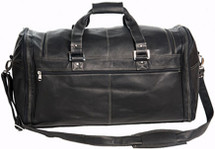 David King Deluxe Extra Large Multi Pocket Leather Duffle Bag 8305