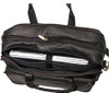 Edmond Leather Expandable Briefcase Carry All 211 Inside Back