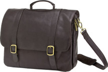Edmond Leather Executive Briefcase Chocolate