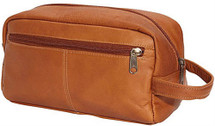 Edmond Leather Toiletry Kit Tan