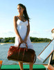 Floto Venezia Leather Duffle Bag Female Model