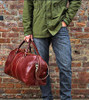Floto Venezia Leather Duffle Bag Male Model