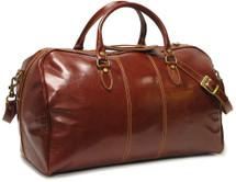 Floto Venezia Leather Duffle Bag Vecchio Brown
