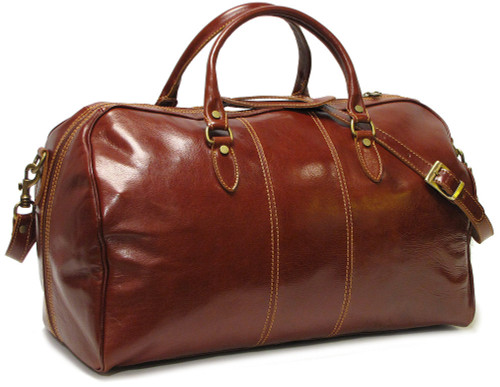 Floto Venezia Leather Duffle Bag Vecchio Brown