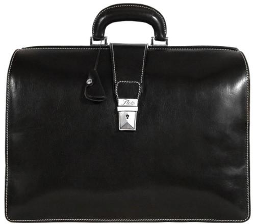 Floto Ciabatta Briefcase (Black)