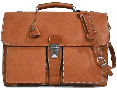 Floto Parma Brief Leather Briefcase 4545P