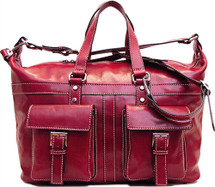 Floto Milano Travel Bag Red