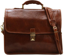 Floto Cortona Briefcase (Brown)