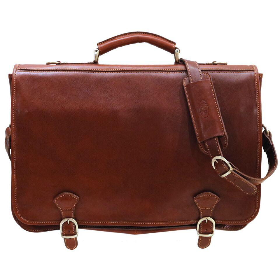 Floto Piazza Leather Messenger Bag 4010 Italian Leather Messenger Bag