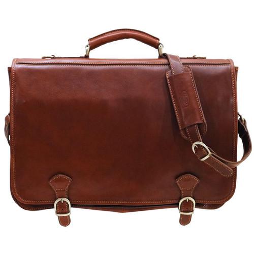 Floto Piazza Leather Messenger Bag