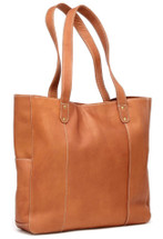 Le Donne Double Strap Rivet Tote Tan