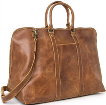 Le Donne Distressed Leather Getaway Duffel Bag DS112