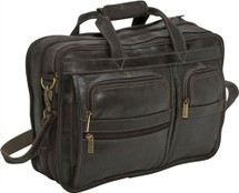 Le Donne Distressed Leather Multi Function Briefcase DS34