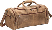 Le Donne Distressed Leather Overnighter Duffel Bag DS504