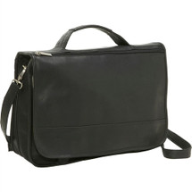 Le Donne Expandable Messenger Brief Leather Messenger Bag T290B