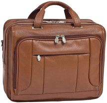 McKlein River West Leather Portfolio Briefcase Brown