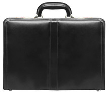 McKlein Reagan Leather Attache Case (Black)