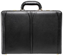 McKlein Lawson Leather Attache Case (Black)