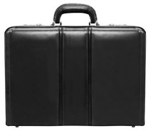 McKlein Coughlin Leather Attache Case (Black)