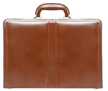 McKlein Harper Leather Attache Case (Brown)