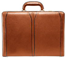 McKlein Turner Leather Attache Case (Brown)