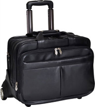 McKlein Roosevelt Rolling Leather Briefcase 8455